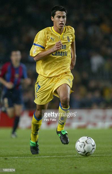 LarenaAvellaneda Jorge of Las Palmas in action during the Primera Liga match between Barcelona and Las Palmas played at the Camp Nou Stadium...