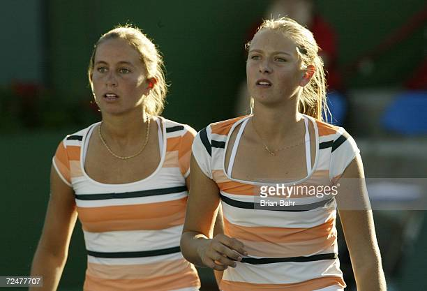 Maria Sharapova of Russia and Gisela Dulko of Argentina are two of the younger players showing promise in singles and as partners during the Pacific...