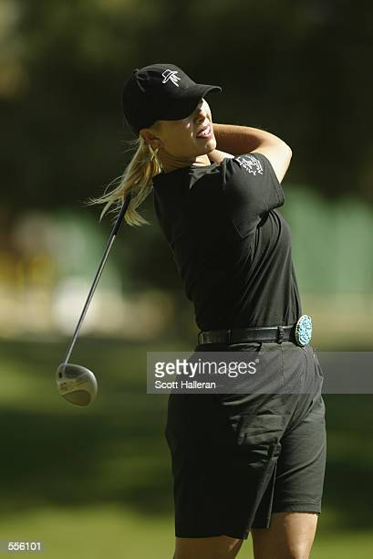 Michelle McGann hits a shot during the third round of the Welch'sCircle K Championship at Randolph North GC in Tucson Arizona DIGITAL IMAGE Mandatory...
