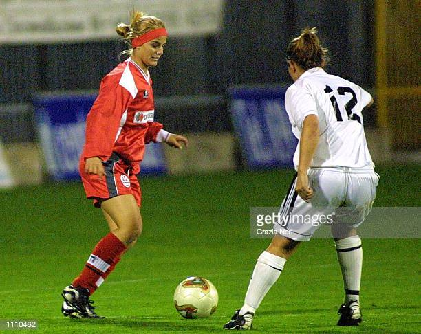 Milene Dominguez, wife of Ronaldo, in action during the friendly match between Monza and Region 4, a representative side from the West Coast of...