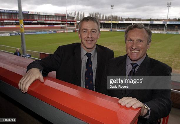 Nigel Melville who has been appointed Director of Rugby pictured with Gloucester chairman Tom Walkinshaw at the Kingsholm Ground Gloucester DIGITAL...