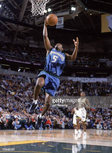 Point guard William Avery of the Minnesota Timberwolves shoots the ball during the NBA game against the Seattle SuperSonics at the Key Arena in...