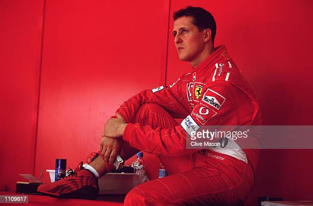 Portrait of Ferrari driver Michael Schumacher before the Formula One Malaysian Grand Prix at the Sepang Circuit in Kuala Lumpur Malayasia Mandatory...
