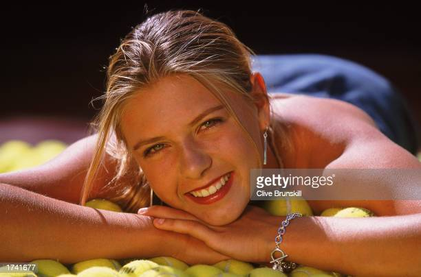 Portrait of Tennis Player Maria Sharapova of Russia during a feature in Indian Wells California USA Mandatory Credit Clive Brunskill/Getty Images