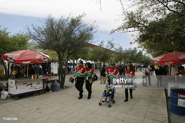 Race fans begin to arrive during the Tecate Telmex Grand Prix of Monterrey, round 1 of the CART FedEx Championship Series at Fundidora Park in...
