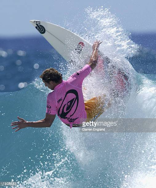 Richard Lovett of Australia in action during round three of the Quicksilver Pro at Snapper Rocks on the Gold Coast Australia The Quicksilver Pro is...