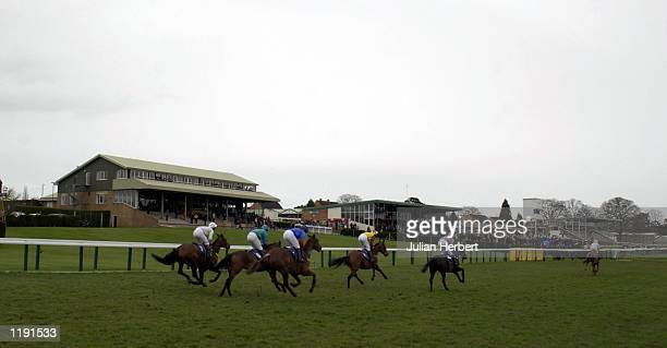 Runners pass the stands at Hereford racecourse DIGITAL IMAGE Mandatory Credit Julian Herbert/Getty Images