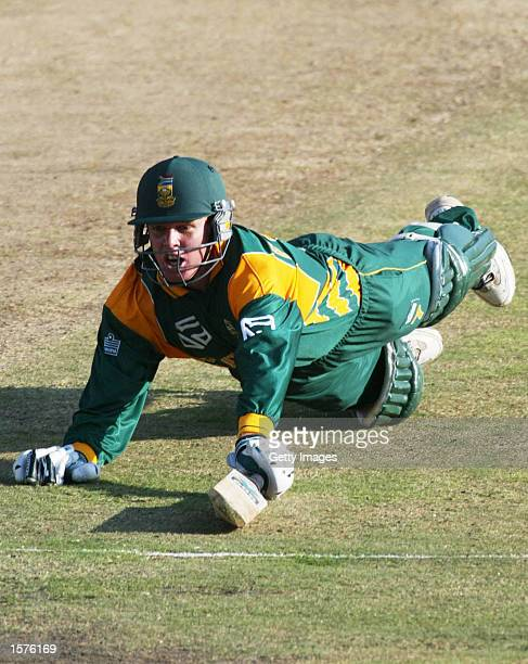 Shaun Pollock of Soth Africa run out by Ricky Ponting during the 2nd one day International match between South Africa and Australia at SuperSport...
