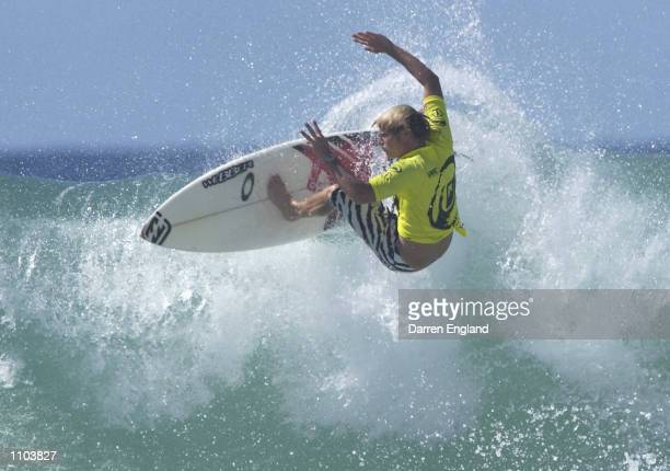 Taj Burrow of Australia in action during round three of the Quicksilver Pro at Snapper Rocks on the Gold Coast Australia The Quicksilver Pro is round...