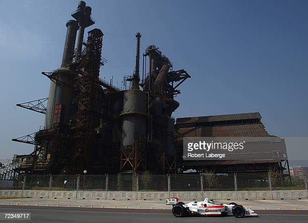 Team Rahal driver Michel Jourdain JR. Drives his Toyota Lola during the Friday morning practice session of the Tecate Telmex Monterrey Grand Prix,...