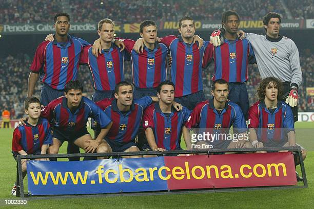 The Barcelona team line up before the Primera Liga match between Barcelona and Las Palmas played at the Camp Nou Stadium Barcelona DIGITAL IMAGE...