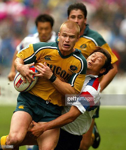 Tim Walsh of Australia in action during the Australia v Korea match during the Credit Suisse First Boston Hong Kong Sevens being played at the Hong...