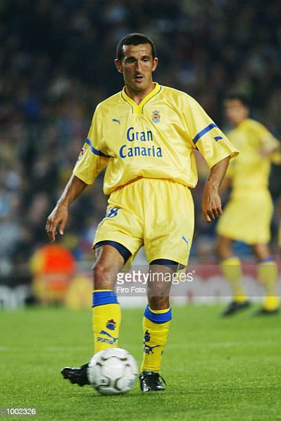 Vinny Samways of Las Palmas in action during the Primera Liga match between Barcelona and Las Palmas played at the Camp Nou Stadium Barcelona DIGITAL...