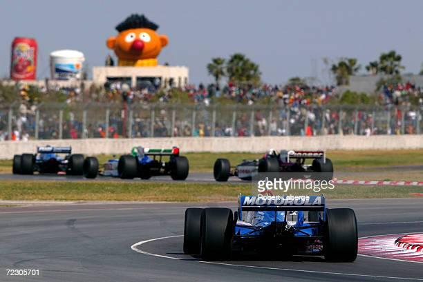 Michael Andretti driving the Team Motorola Honda Reynard through the twists and turns of the Tecate Telmex Monterrey Grand Prix, round one of the...