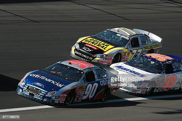 Rookie Stephen Leicht Bobby Labonte and David Reutimann the Sam's Town 300 NASCAR Busch Grand National race at the Las Vegas Motor Speedway