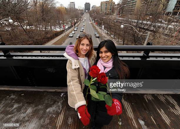 04 Mar 2011 Photo of Leigh Bowen and Kavita Dogra who are organizing rally called Women on the Bridge a worldwide event that encourages women to...