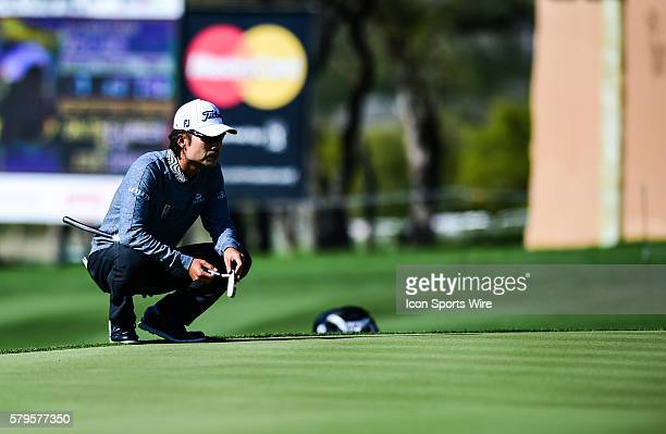 Mar 27, 2015- San Antonio, TX-- Kevin Na during second round play of the Valero Texas Open at the AT&T Oaks Course, TPC San Antonio in San Antonio,...
