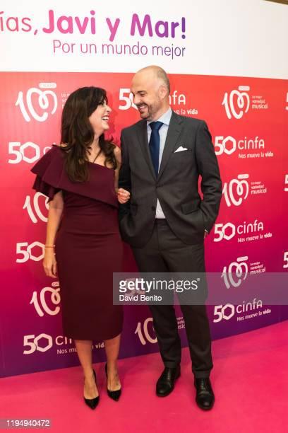 Mar Amate and Javi Nieves attend '¡Buenos Dias, Javi Y Mar! Por Un Mundo Mejor' Cadena 100 Awards on December 19, 2019 in Madrid, Spain.