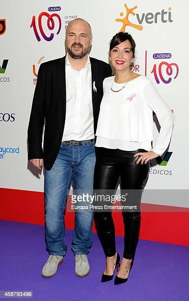 Mar Amate and Javi Nieves attend 'Cadena 100 Por Ellas' concert on November 7, 2014 in Madrid, Spain.