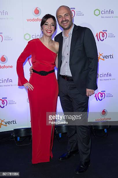 Mar Amate and Javi Nieves attend 'Pie Derecho' awards at Callao City Lights Cinema on December 17 2015 in Madrid Spain