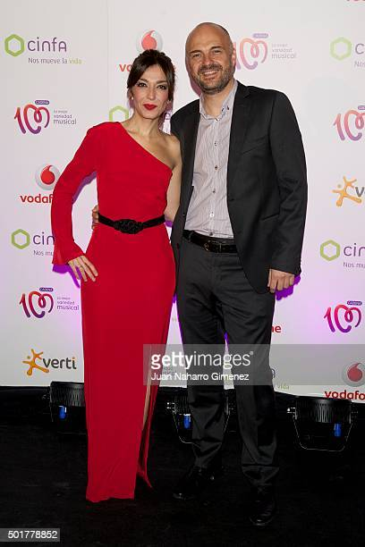 Mar Amate and Javier Nieves attend 'Pie Derecho' Awards 2015 at Callao Cinema on December 17 2015 in Madrid Spain