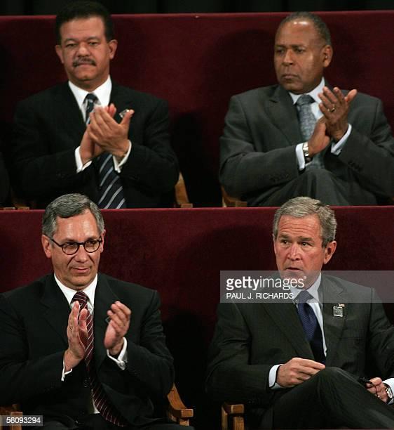 Dominican Republic President Leonel Fernandez Trinidad and Tobago Prime Minister Patrick Manning Bolivian President Edwardo Rodriguez and US...