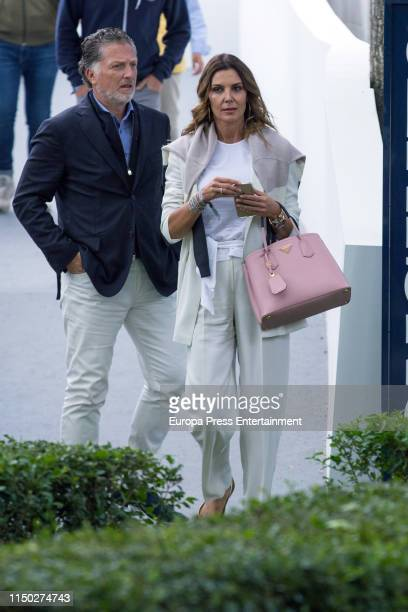 Mar Flores and Elias Sacal during Madrid-Longines Champions, the International Global Champions Tour at Club de Campo Villa de Madrid on May 18, 2019...