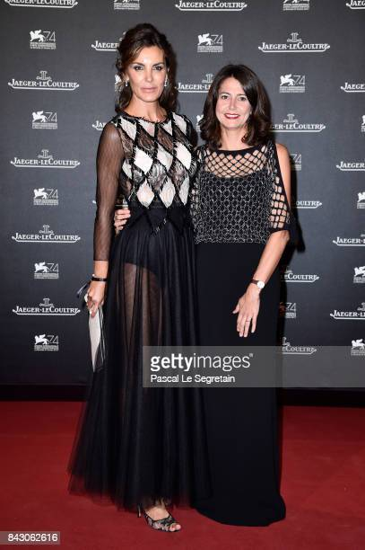 Mar Flores and Mercedes Canos General Director of Jaeger LeCoultre Spain arrive for the JaegerLeCoultre Gala Dinner during the 74th Venice...