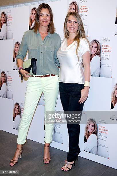 Mar Flores and Myriam Yebenes attend the presentation of the book 'Como Gustarte y Gustar Mis Secretos de Belleza' at Petit Palace Alfonso XII Hotel...