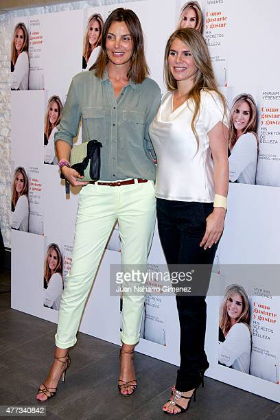 Mar Flores and Myriam Yebenes attend the presentation of the book 'Como Gustarte y Gustar Mis Secretos de Belleza' at Petit Palace Alfonso XII Hotel...