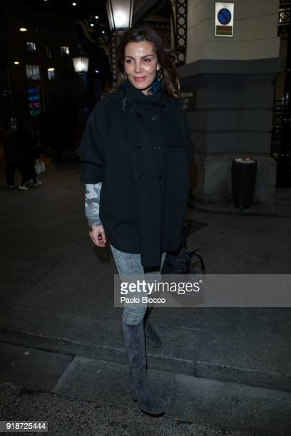 Mar Flores arrives at the 'Dream in Gold' presentation at Palace Hotel on February 15 2018 in Madrid Spain