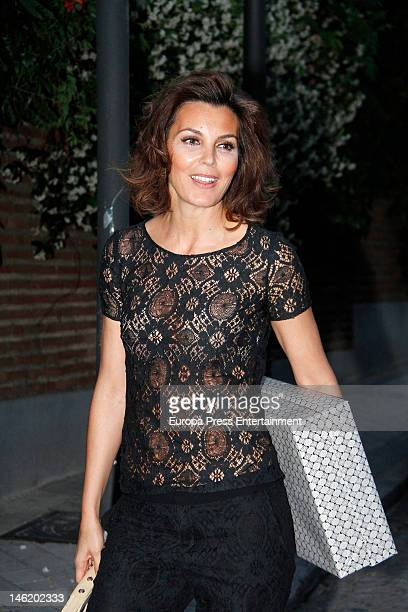 Mar Flores attends her 43th birthday on June 11, 2012 in Madrid, Spain.