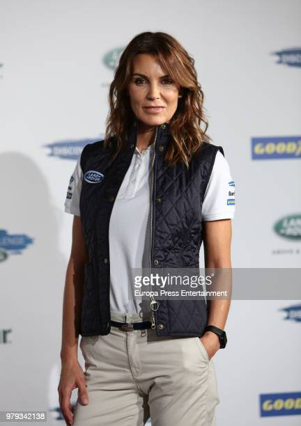 Mar Flores attends Land Rover Discovery Challenge presentation on June 20, 2018 in Madrid, Spain.