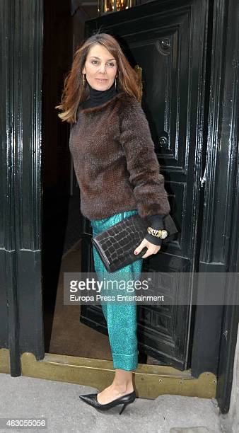 Mar Flores attends lunch at Pascua Ortega home to celebrate Giancarlo Giacommetti birthday on February 7, 2015 in Madrid, Spain.