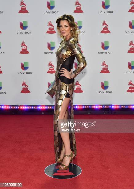 Mar Flores attends the 19th annual Latin GRAMMY Awards at MGM Grand Garden Arena on November 15, 2018 in Las Vegas, Nevada.