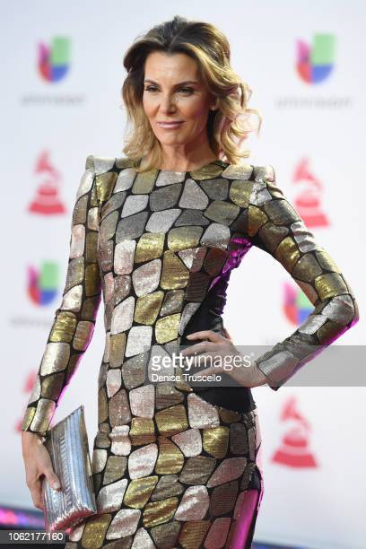 Mar Flores attends the 19th annual Latin GRAMMY Awards at MGM Grand Garden Arena on November 15 2018 in Las Vegas Nevada