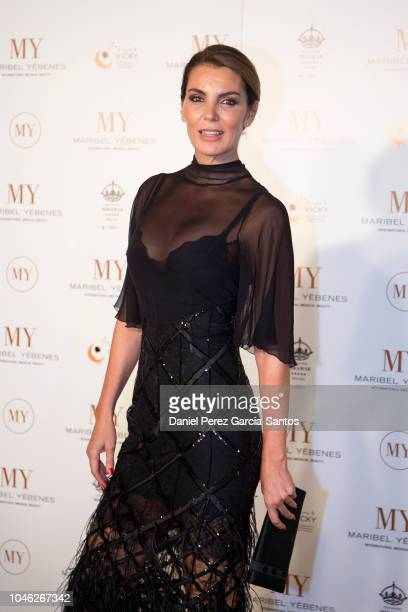 Mar Flores attends the inauguration of the Institute of Beauty and Aesthetic Medicine Maribel Yebenes on October 5, 2018 in Malaga, Spain.