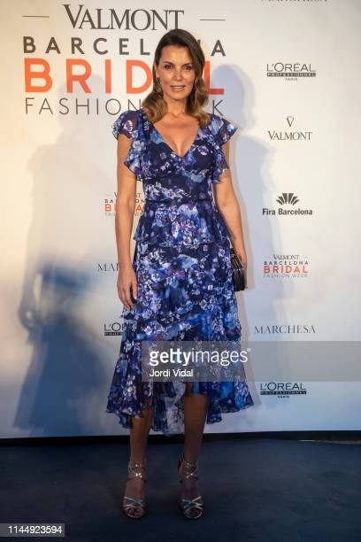 Mar Flores attends the Marchesa show at Valmont Barcelona Bridal Fashion Week 2019 on April 24 2019 in Barcelona Spain
