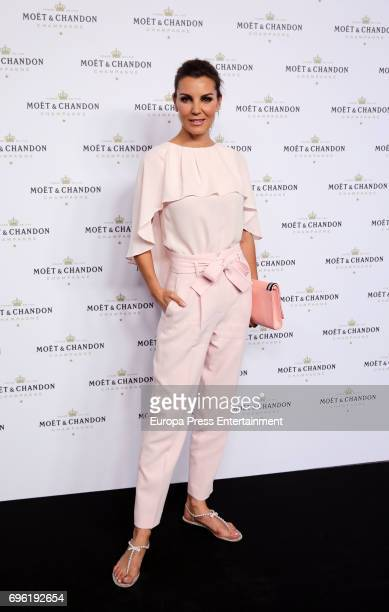 Mar Flores attends the Moet Chandon Record Guinness Party at La Casa Encendida on June 14 2017 in Madrid Spain Moet Chandon makes a pyramid with...