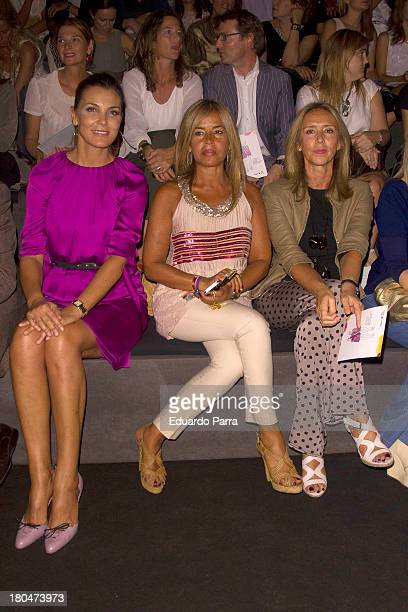 Mar Flores Begona Traopte and Mar Garcia Vaquero attend a fashion show during the Mercedes Benz Fashion Week Madrid Spring/Summer 2014 on September...