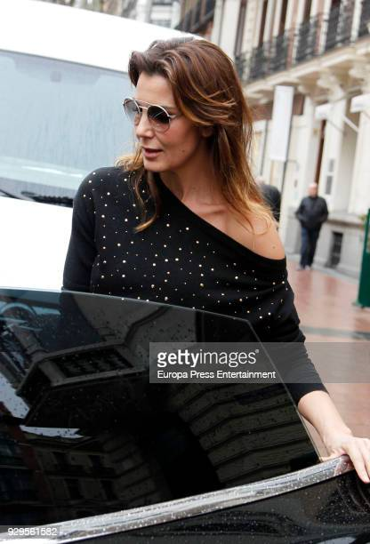 Mar Flores is seen on March 8 2018 in Madrid Spain