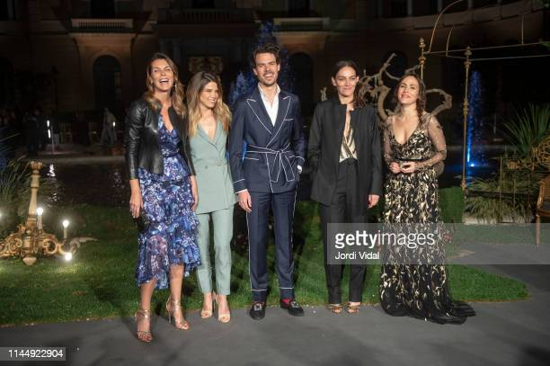 Mar Flores, Juana Acosta, Juan Avellaneda, Laura Ponte and Irene Montala attend the Marchesa show at Valmont Barcelona Bridal Fashion Week 2019 on...