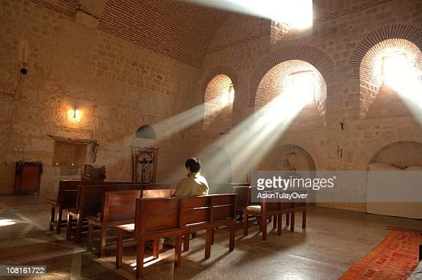 マルガブリエル修道院-mardin - 僧院 ストックフォトと画像