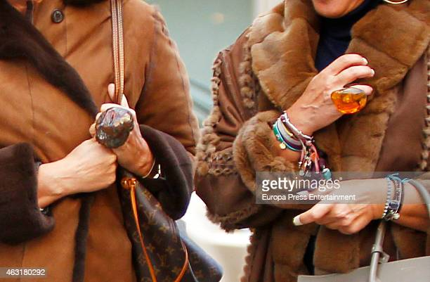 Mar Garcia Vaquero and Begona Garcia Vaquero are seen on January 16 2015 in Madrid Spain