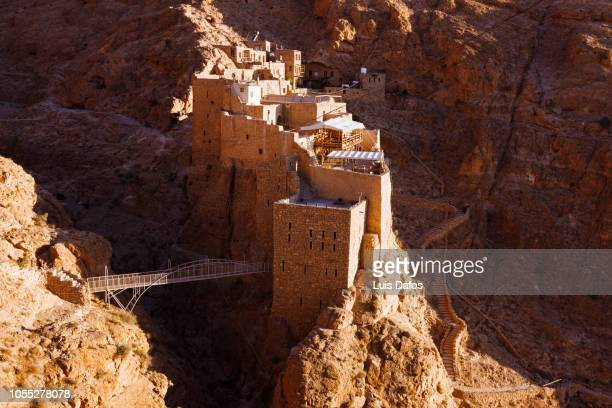mar musa monastery - arabian peninsula stock pictures, royalty-free photos & images