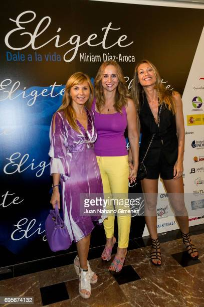 Mar Regueras and Monica Pont attend 'Eligete' photocall at Teatro Nuevo Apolo on June 13 2017 in Madrid Spain