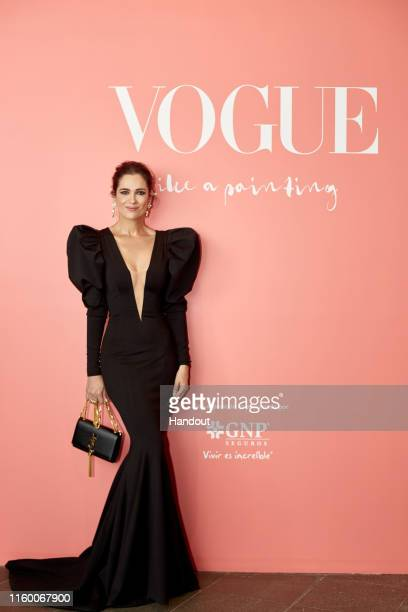 """Mar Saura attends """"Vogue Like a Painting Gala Dinner"""" on July 10, 2019 in Mexico City, Mexico."""