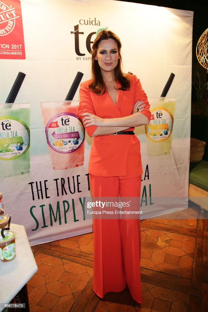 Mar Saura presents Natural Fresh Tea on March 22, 2017 in Madrid, Spain.