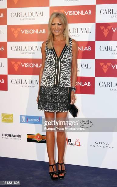 Mar Segura attends the painting exhibition of Carla Duval at Casa de Vacas on September 5 2012 in Madrid Spain