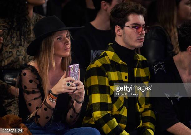 Mar Torres and Gemeliers attends Custo Barcelona fashion show during the Merecedes Benz Fashion Week Autum/Winter 202021 at Ifema on January 30 2020...